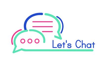 Lets chat concept