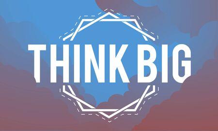 Imagine Think Big Innovate Ideas Word Banco de Imagens - 82334595