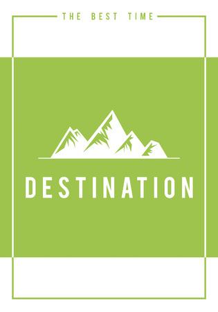 Travel adventure outdoors exploration hills graphic icon
