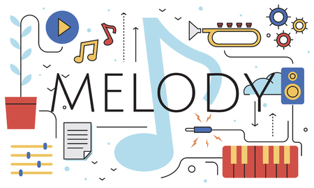 Music Note Melody Sound Play Word Graphic