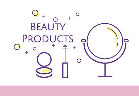 Illustratie van schoonheidsschoonheidsmiddelen makeover huidverzorging