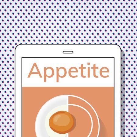 Illustration of healthy food cuisine menu recipe Stock fotó - 82341587
