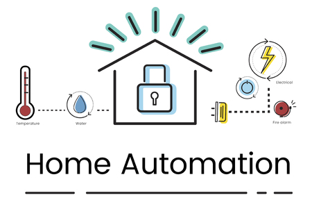Illustration of smart house invention automation technology