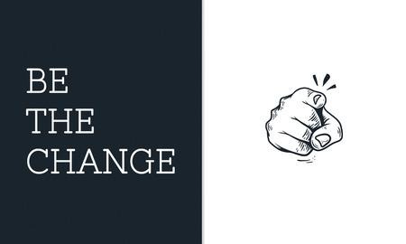 손가락을 가리키는 그림이 변화 혁명