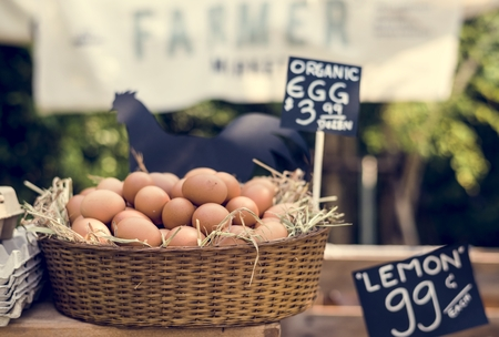 Organic fresh agricultural product at farmer market Stok Fotoğraf