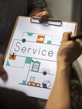 Graphic of business service marketing orgnization