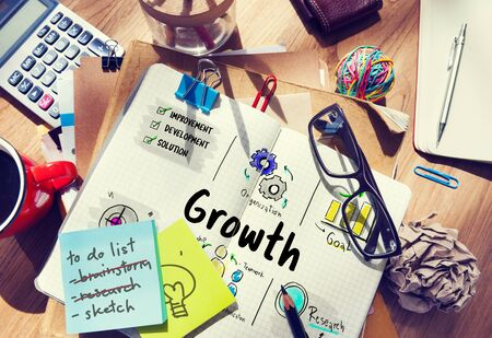 New Business Market Venture Expansion Growth Stock Photo
