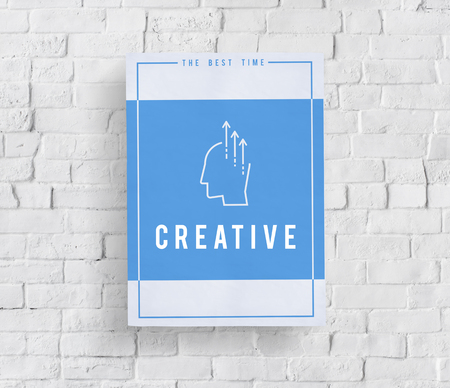 Showing creative ideas ability word graphic illustration Stok Fotoğraf