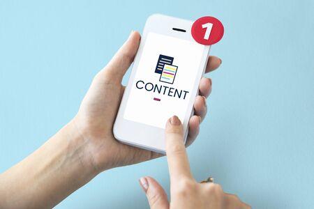 온라인 콘텐츠 데이터 정보 그림 스톡 콘텐츠