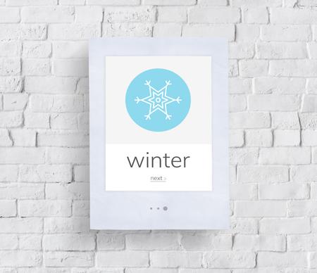 Saison hivernale gel de neige temps froid Banque d'images - 82363521