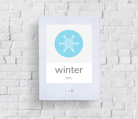 Winter season snow freeze cold weather Reklamní fotografie