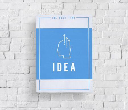 Toon creatieve ideeën vermogen woord grafische illustratie Stockfoto