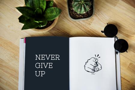 Ilustración del dedo apuntando con aspiraciones motivadas Foto de archivo - 82344140