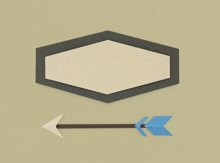 Geometrical Shape Arrow Icon Symbol Sign Stock fotó