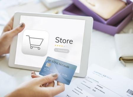 Achat en ligne magasin concept Banque d'images - 82397353
