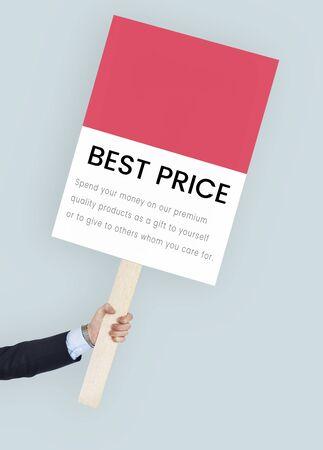 Mejor precio concepto de venta premium Foto de archivo - 82364671