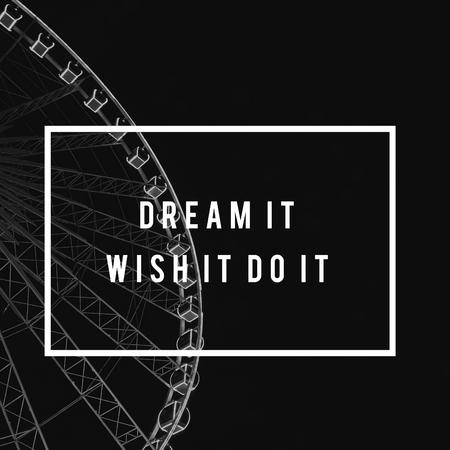Dream Wish Do It Life Motivation Positivity Attitude Possible Graphic Words