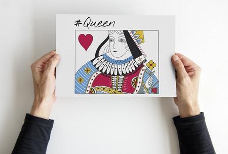 Queen Card Feminine Women Graphic Stock Photo