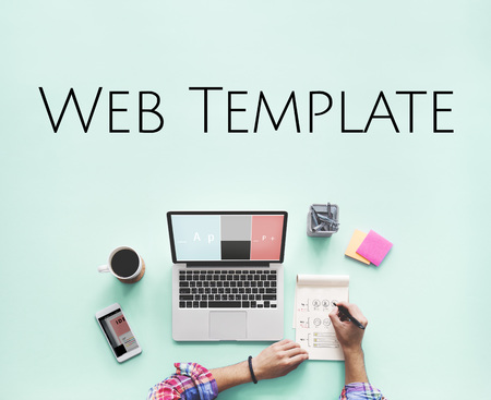 Website Template Content Layout Graphic Word Stock Photo