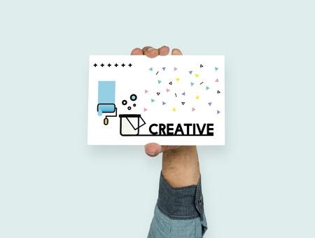 Graphic of creative art design on banner Stock Photo