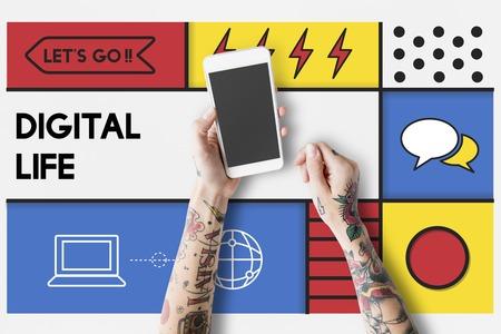 Digital Life Modern Technology Concept Reklamní fotografie