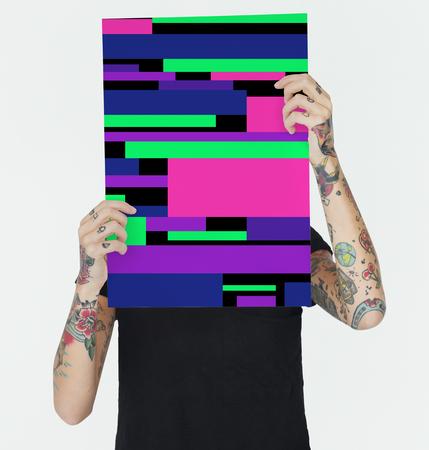 추상 다채로운 그림 Uillustration 개념 스톡 콘텐츠