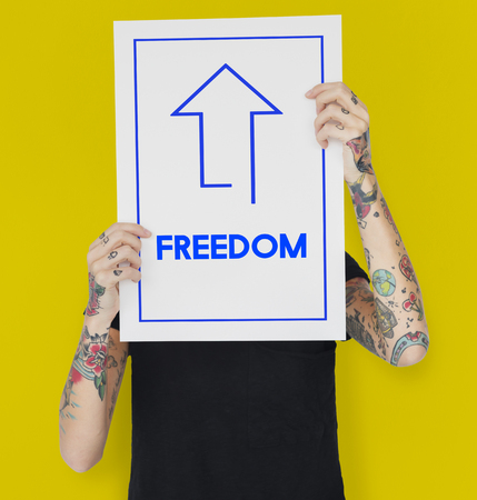 Freedome Independence Liberty Free Word Stock Photo