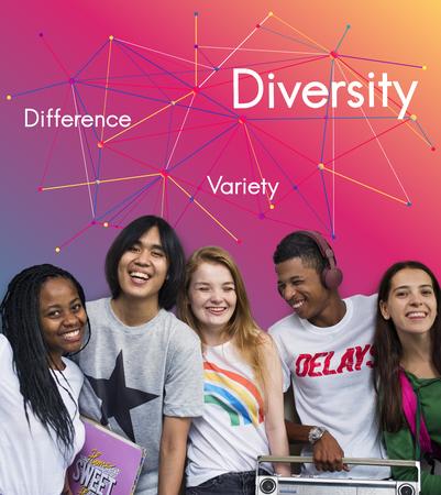 違いさまざまな多様性チームワーク成功 写真素材