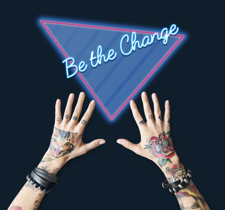 Be The Change Improvement Opportunity Process Word Stock Photo