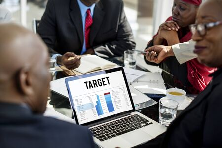 Data Management Perfomance Graph Concept