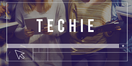 techie: Technology Invention Innovation Word Graphic