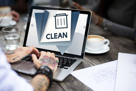 Delete Remove Trash Can Application Graphic