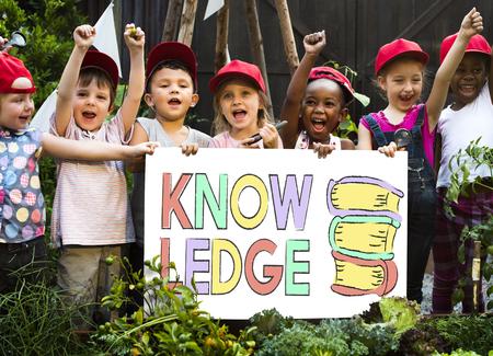 子供と知識の概念を勉強して 写真素材