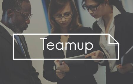 Business Teamwork Teamup Strategy Planning