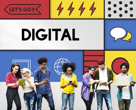 디지털 라이프 현대 기술 개념