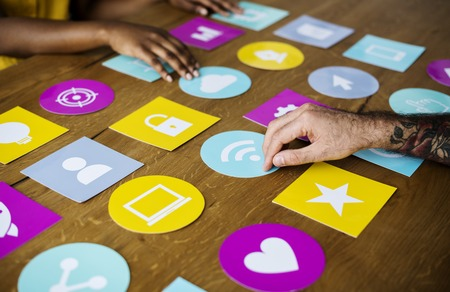 techie: Group of people meeting ideas sharing support togetherness