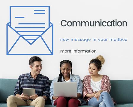 techie: Communication Connection Social Life Concept