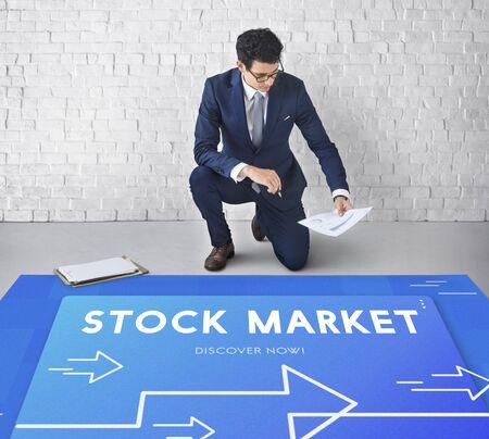 Business Strategy Management Stock Market Illustration