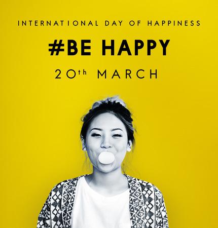 Bonne journée internationale du concept de bonheur Banque d'images - 82399611