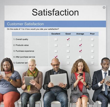 Customer Satisfaction Service Care Problem Solving Stock Photo
