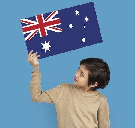 Australia country union jack flag Stock Photo