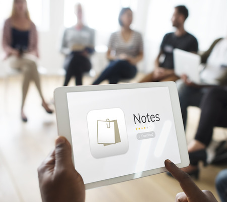 Illustration of personal organizer notes Stock Photo