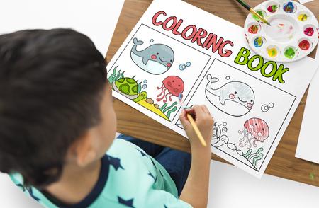 本教育才能の概念を着色 写真素材