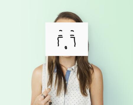 Disegno di espressioni facciali Emozioni Sentimenti Archivio Fotografico - 82400077