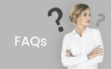 FAQs graphic overlay background