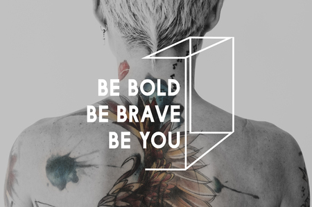 Be Bold Be Brave Be You concept