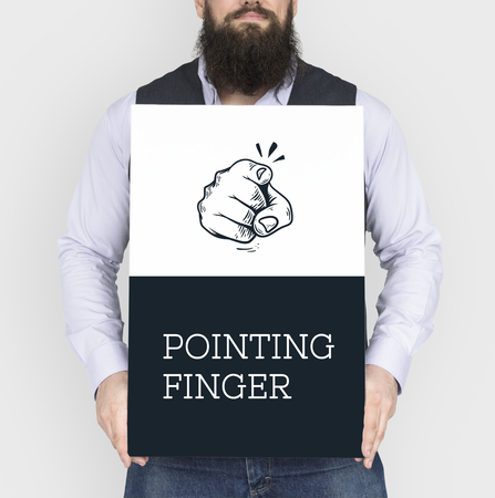 Illustration of pointing finger we want you