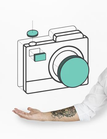 Camera Capture Snap Shot Graphic Stock Photo