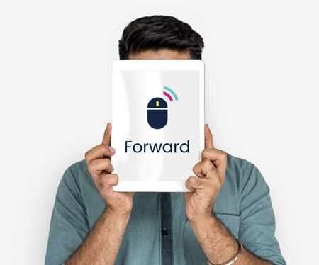 Next Forward Click Word Mouse Graphic Stock Photo