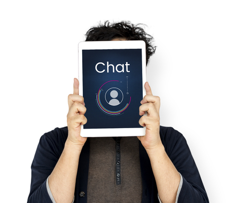 techie: Chat Member Login Register Social Network Connection Avatar Icon